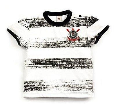 Camiseta Corinthians Infantil Listras Feminina Oficial