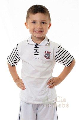 Camisa Polo Infantil Corinthians MO Oficial