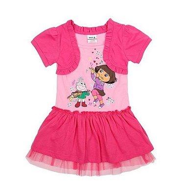 Vestido Infantil Dora Aventureira com Bolero