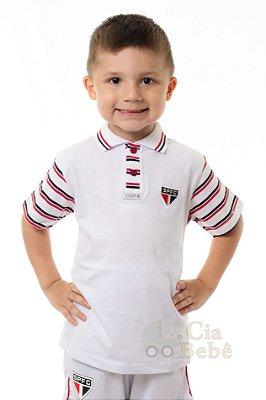 Camisa São Paulo Infantil Polo Masculina Oficial