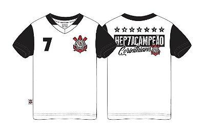 Camiseta Infantil Corinthians Hepta Branca Oficial
