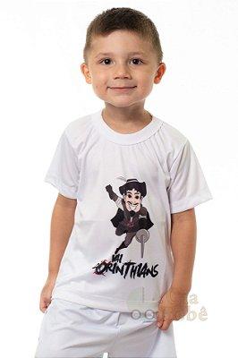 Camiseta Infantil Corinthians Mascote Branca Oficial