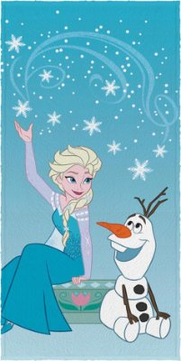 Toalha Felpuda de Banho Frozen Modelo 1 Lepper
