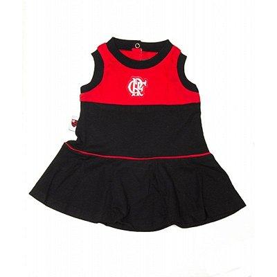 Vestido Bebê Flamengo Regata Oficial