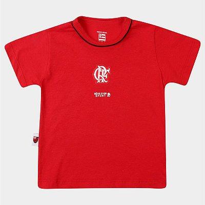 Camiseta Bebê Flamengo Bicolor Oficial