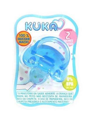 Chupeta Kuka 100% Silicone Soft Orto Fase 2 Azul (+6meses)