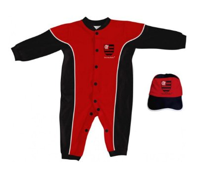 Kit Bebê Flamengo 2 Peças Longo - Torcida Baby