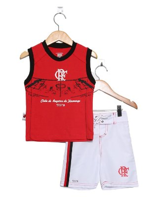 Conjunto Infantil Flamengo Regata Board Oficial