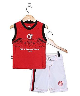 Conjunto Infantil Flamengo Regata Board Oficial