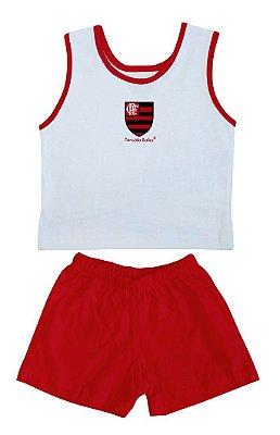 Conjunto Bebê Flamengo Regata Malha - Torcida Baby