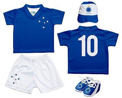 Kit Bebê Cruzeiro 4 Peças Oficial - Torcida Baby