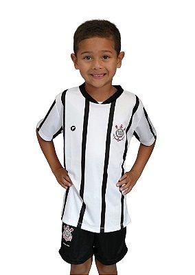 Camiseta Infantil Corinthians Branca Oficial - Torcida Baby