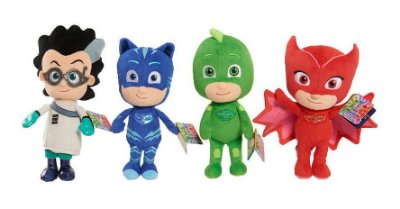 Kit Pelúcia 4 Pçs Heróis De Pijamas Pj Masks Cat Boys 20cm