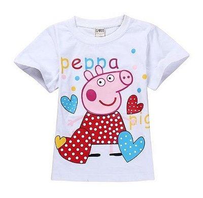 Camiseta Peppa Pig Corações Branca