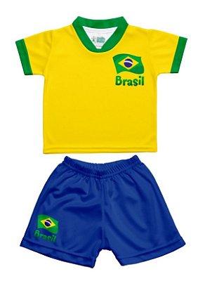 Conjunto Uniforme Infantil Brasil - Torcida Baby