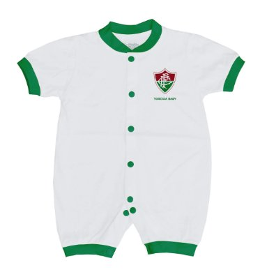 Macacão Bebê Fluminense Curto Malha - Torcida Baby