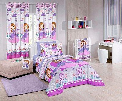 Edredom Infantil Princesa Sofia Friends 150x220cm Santista
