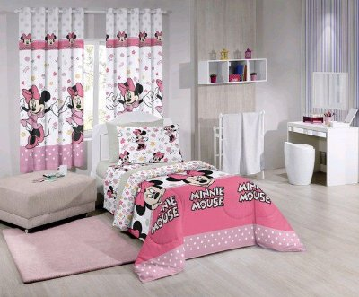 Edredom Infantil Minnie Happy 1,50 x 2,20m Santista