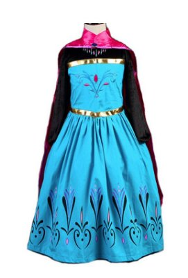 Vestido Infantil Rainha Elsa Frozen Coroação