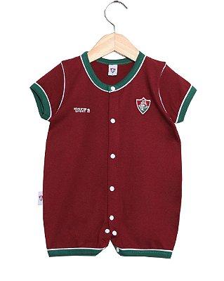 Macacão Bebê Fluminense Unissex Oficial