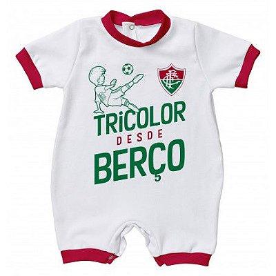 Macacão Bebê Fluminense Tricolor Desde Berço - Torcida Baby