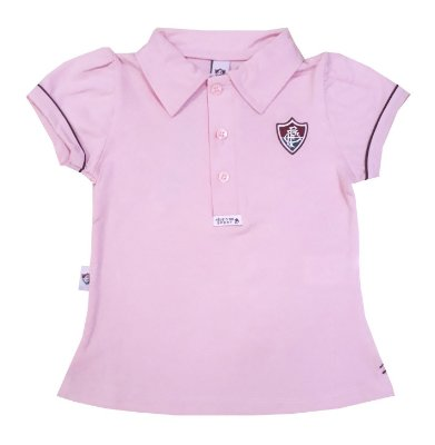 Camisa Polo Infantil Fluminense Rosa Oficial