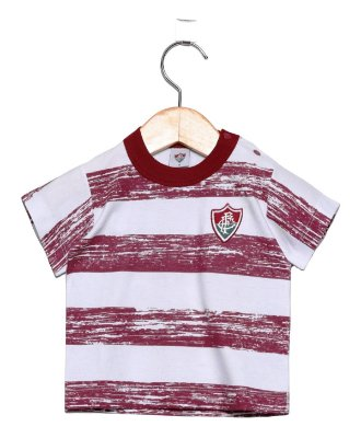 Camiseta Bebê Fluminense Listras Oficial
