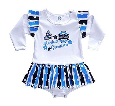 "Body Vestido Grêmio ""Menina Gremista"" Longo Oficial"