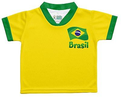 Camiseta Bebê Brasil Torcida Baby