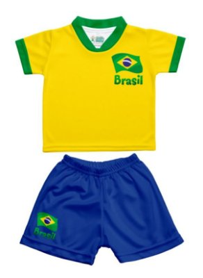 Conjunto Uniforme Bebê Brasil - Torcida Baby