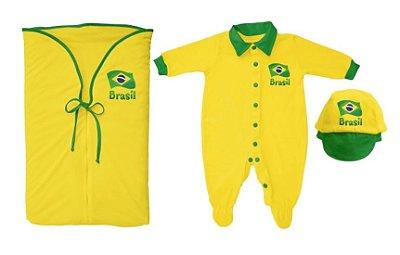 Kit Bebê Saída Maternidade Brasil - Torcida Baby