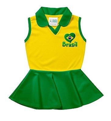 Vestido Infantil Brasil Polo - Torcida Baby