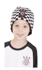 Gorro Infantil Corinthians Xadrez CAP Oficial