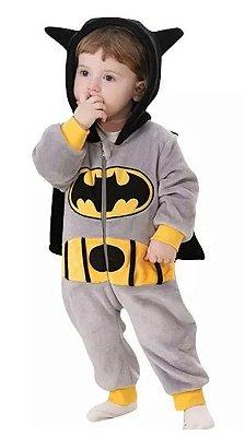 Macacão Bebê Batman Plush Luxo