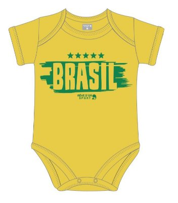 Body Brasil Manga Curta Revedor