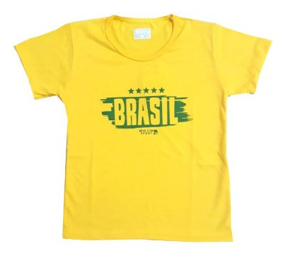 Camiseta Brasil Infantil Manga Curta Revedor