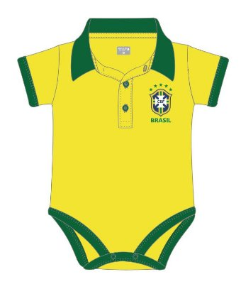 Body Polo Brasil Manga Curta Revedor