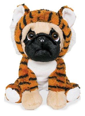 Pelúcia Cachorro Pug Tigrinho 22cm Buba
