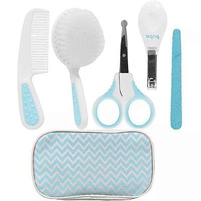 Kit Bebê Higiene Cuidados Com Estojo Azul Buba