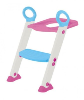 Assento Redutor Infantil com Escada Rosa Buba