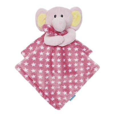 Naninha Bebê Elefantinho Rosa Buba Toys