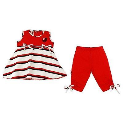 Conjunto Infantil Flamengo Bata e Legging Revedor