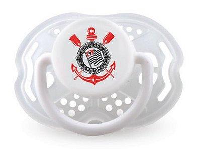 Chupeta Corinthians Clean Redonda S2 Kids Gol