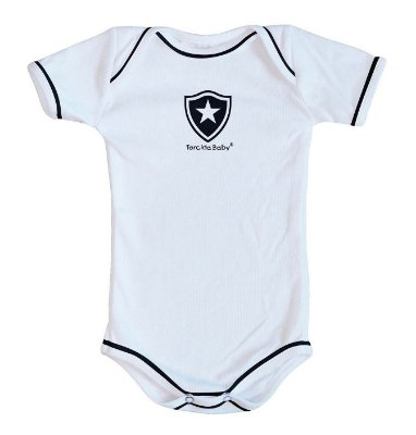 Body Botafogo Oficial Branco - Torcida Baby