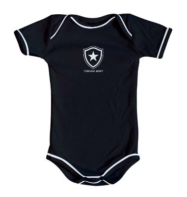 Body Botafogo Oficial Preto - Torcida Baby