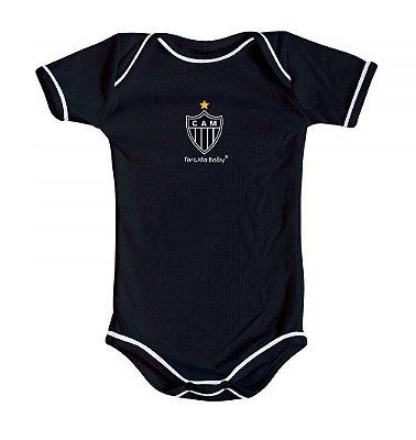 Body Atlético MG Oficial Preto - Torcida Baby
