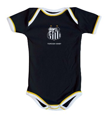 Body Santos Oficial Preto - Torcida Baby