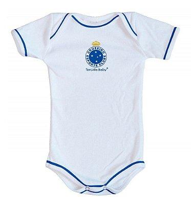 Body Cruzeiro Oficial Branco - Torcida Baby
