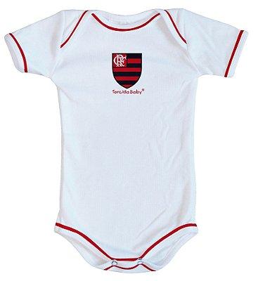 Body Flamengo Oficial Branco - Torcida Baby