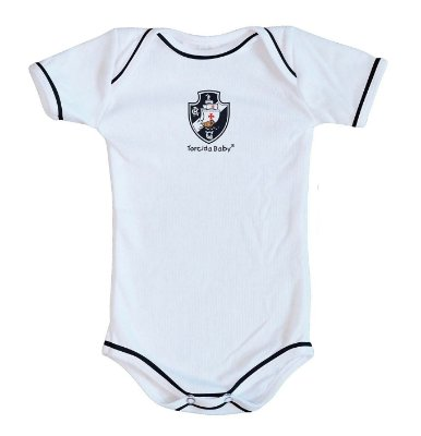Body Vasco Oficial Branco - Torcida Baby